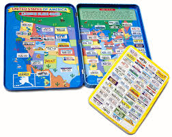 License Plate Map Amazon Com T S Shure License Plate Game Magnetic Playset Toys