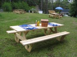 Free Picnic Table Plans 2x6 by Custom Picnic Tables