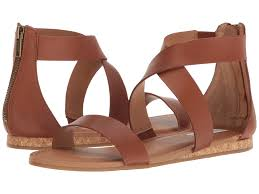 steve madden halley cognac leather womens shoes sandals flat