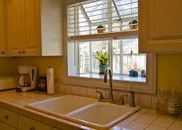Kitchen Sink Window Treatments - kitchen charming kitchen garden window curtains 22 kitchen