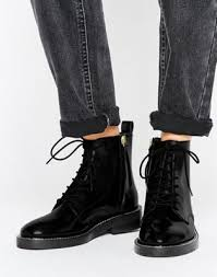 womens boots asos s boots asos antartica leather lace up ankle boots 984818