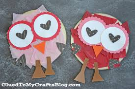 recycled cd valentine u0027s day owls kid craft glued to my crafts