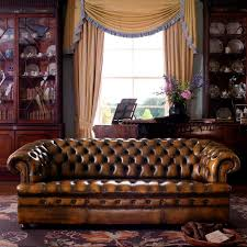 Classic Chesterfield Sofa by Chesterfield Sofa Leather 3 Seater Brown Thomas Fleming