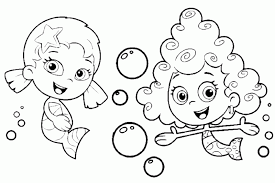 bubble guppies free coloring