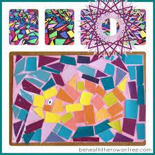 beneath the rowan tree summer kid crafts paint chip mosaics