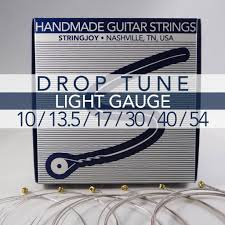 Light Guitar Strings by Stringjoy Drop Tune Light Gauge 10 54 Nickel Wound Electric