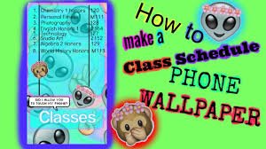 back to hack cute class schedule phone wallpaper youtube