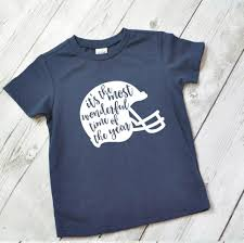 football shirt for kids its the most wonderful time of the year