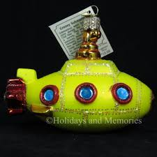 beatles yellow submarine ornament 2015 by merck family world