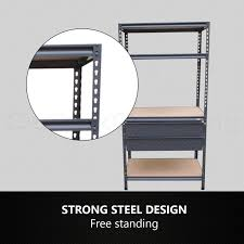 Free Standing Shed Shelves by Metal Shelves Workshop Heavy Duty Shelving Racking Storage Drawers