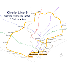 Singapore Metro Map by Circle Line 6 Projects Public Transport Land Transport Authority
