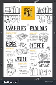 coffee food menu for restaurant and cafe design template with