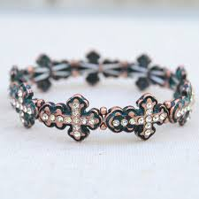 crystal cross bracelet images Shop fashion boho leather bracelets for women pennyluna jpg