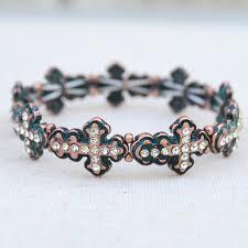 crystal cross bracelet images Shop fashion boho leather bracelets for women pennyluna jpg