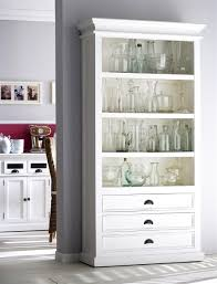 Distressed Wood Bookcase Halifax White Bookcase
