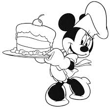 minnie mouse cooking cake coloring download u0026 print