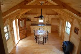 Interior Of Log Homes by Amish Construction Amish Cabin Company Amish Cabin Company