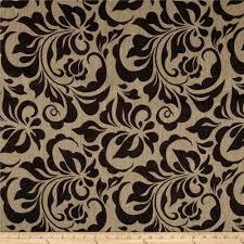 Burlap Curtains Amazon Printed Burlap Small Leaf Damask Discount Designer Fabric