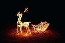 lighted reindeer outdoor lighted reindeer and sleigh therav info