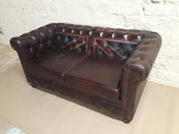 Chesterfields Sofa by Vintage Leather Chesterfield Union Jack Sofa Shakunt Vintage