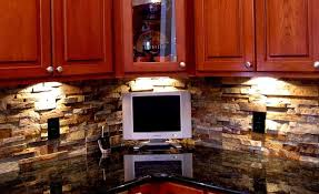 veneer kitchen backsplash norstone stacked veneer ochre blend rock panels used as a