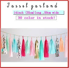tissue pom poms paper tassel garland your colors wedding