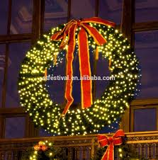 lighted christmas wreaths for windows diy shop holiday living pre lit indooroutdoor electrical outlet