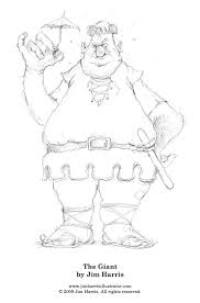 fairytale coloring giant jack beanstalk