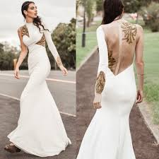elle may leckenby gold u0026 white evening gown regalrose co uk