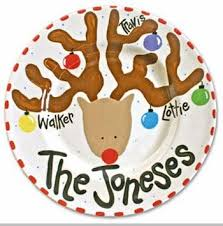personalized christmas platter personalized christmas platters rudolph christmas platter