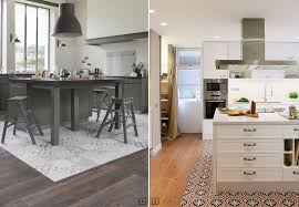 parquet sp馗ial cuisine decor trend tile and wood flooring combination bnbstaging le