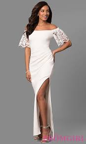 bell sleeved long jersey spandex prom dress promgirl
