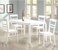 5 pc dining table set white dining table set 5 piece dining table set in white finish by