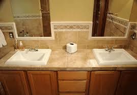 Bathroom Countertop Tile Ideas Bathroom Decor Vanity Glass Tile Counter Top Bathrooms In 2