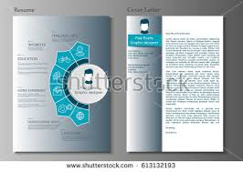 resume cover letter collection modern cv stock vector 613132193