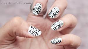 nail art zebra beautify themselves with sweet nails