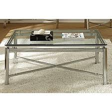 Glass And Chrome Coffee Table Living Room Silver Chrome And Glass Coffee Table
