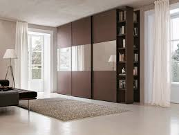 Wardrobes With Sliding Doors Contemporary Wardrobe Wooden With Sliding Door With Bookcase