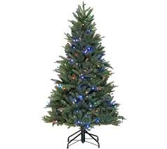 santa s best 5 rgb blue spruce tree with 64 functions qvc