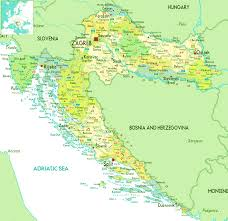 Map Of International Airports Detailed Map Of Croatia