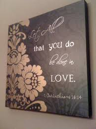 contemporary canvas home decor bible verse love 40 00 via