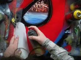 spiderman spray painting