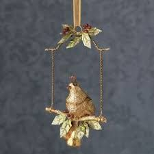 partridge on swing ornament thestylecure a golden