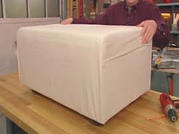 Extra Large Ottoman Slipcover by How To Make A Dog Ottoman And Slipcover Hgtv