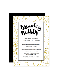 brunch invitation template free printable gold bridal shower invitation templates