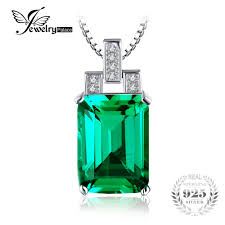emerald jewelrypalace 6 51ct created emerald pendant emerald cut high