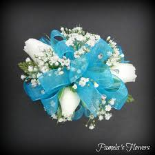 turquoise corsage prom floral arrangement delivery in harrisburg pa