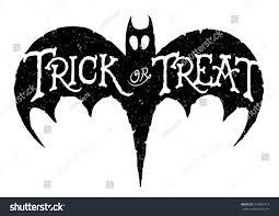 trick treat bat vector handdrawn halloween stock vector 319497914