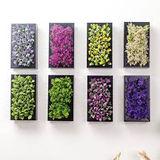 wood frame wall decor artificial plants with wood frame wall sticker artificial flower