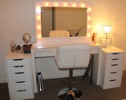 Diy Desk Vanity Mirrors With Lights Around Them Round Designs
